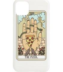 recover the pizza iphone 11, 11 pro & 11 pro max case - white