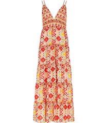karolina floral-print cotton-blend maxi dress