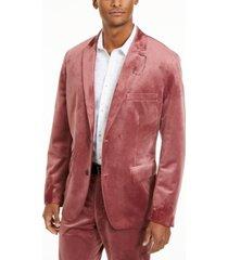inc men's slim-fit velvet blazer, created for macy's