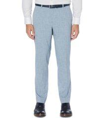 perry ellis men's portfolio slim-fit 4-way stretch heather dress pants