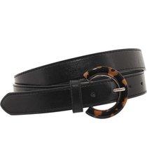 cinturón negro bohemia hebilla print