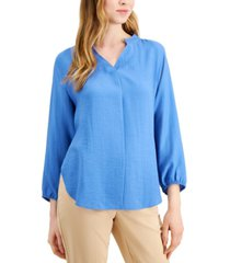 alfani bishop-sleeve tie-back top, created for macy's
