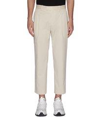 pleated circle pocket pants