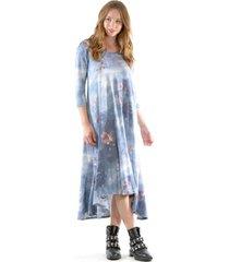 vestido español lanilla azul bous
