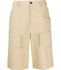 harrison wong quilted cargo shorts - neutrals