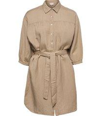 makira linen dress dresses shirt dresses beige minus