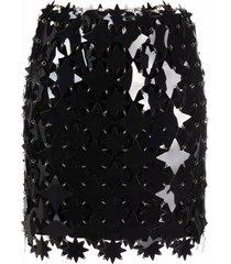 paco rabanne jupe embellished mini skirt