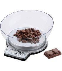 balanã§a digital brinox com recipiente para cozinha 3 kg prata - prata - dafiti