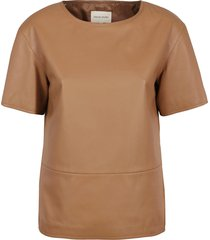 loulou studio leather shirt