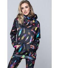bluza hoodie feather black
