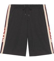 gucci technical jersey shorts - black