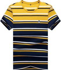camiseta de manga corta para hombre, color amarillo.