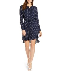 women's tommy hilfiger polka dot long sleeve dress