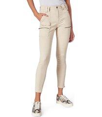 women's joie park high waist skinny pants, size 24 - beige