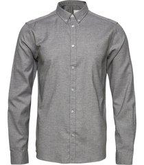 harrison b.d. brushed shirt overhemd casual grijs les deux