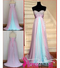 new unique ombre dress,blue prom dress,pink evening dress,new party dresses r333