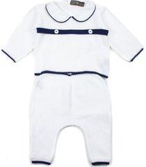little bear white cotton suit