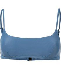matteau plain crop bikini bottoms - blue
