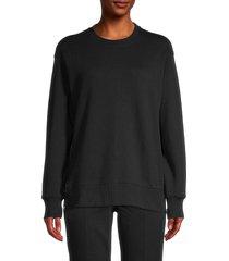 dkny sport women's side-zip sweatshirt - black - size xs