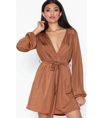 nly one waist tie dress loose fit