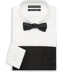 3-piece dress shirt, bow tie & cummerband set
