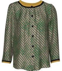3359 mix - bala puff blouse lange mouwen groen sand