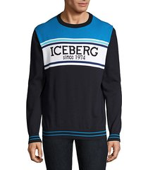 iceberg logo colorblock sweater