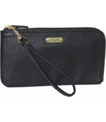 buxton women's small pebble l-zip wristlet