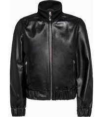 calvin klein giacca in pelle nera