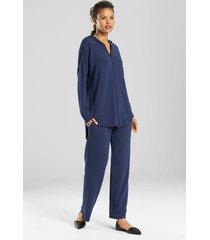 n-lightened pants pajamas, women's, blue, size xl, n natori