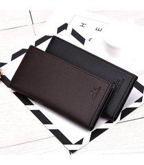 billetera, cartera de monedero larga de múltiples-marrón