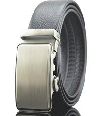 cintura di cuoio genuino di affari degli uomini di 125-130cm cintura di fibbia automatica dell'inarcamento dell'oro chiaro