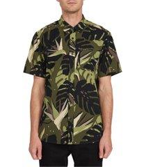 volcom men's mentawais fern short sleeve shirt