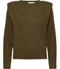 off shoulder knit gebreide trui groen maud
