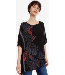 oversize blouse donna - black - l