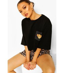 kort disney lion king pyjama setje, black