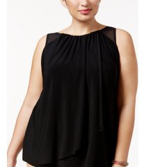 miraclesuit plus size solids mariella tankini top women's swimsuit