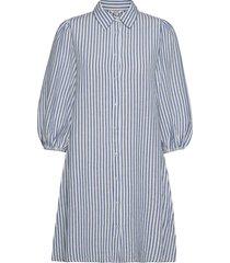 taimi knälång klänning blå mbym