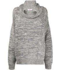 liska pullover cowl neck jumper - grey