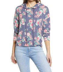women's everleigh hooded sweatshirt, size x-small - blue