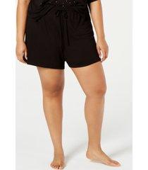 jenni plus-size ultra soft core pajama shorts, created for macy's