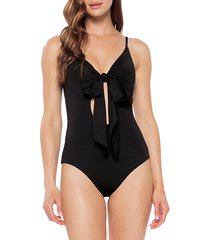 black magic tie one-piece swimsuit