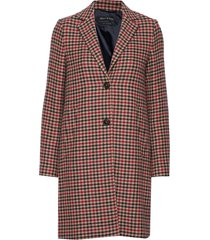 coat with revers wollen jas lange jas multi/patroon marc o'polo