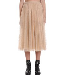 red valentino skirt in powder polyamide