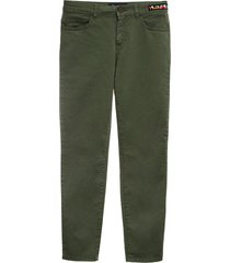 cottoncavalry and denim straight pants for man