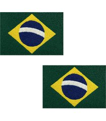 2 tapete capacho emborrachado 60x1,2m brasil - verde - feminino - dafiti