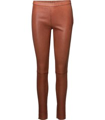 12040 leather leggings/broek bruin depeche