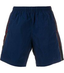 alexander mcqueen high-rise swim shorts - blue