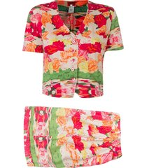 kenzo pre-owned 1970's shorts and blouse set - pink