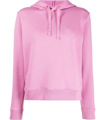 a.p.c. erin embroidered logo hoodie - pink